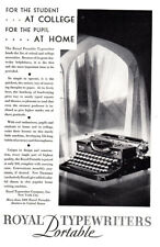 1929 Royal Portable Typewriters: For the Student at College Vintage Print Ad
