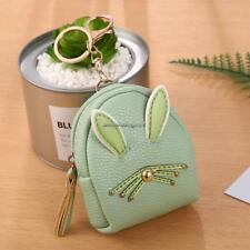 Women Synthetic Leather Cute Rabbit Ear Pattern Coin Purse Wallet with FF