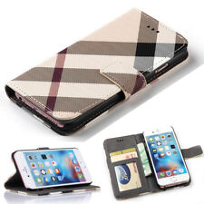 For iPhone 7 Plus & 8 Plus Luxury Leather Wallet Case Card Holder Flip Cover