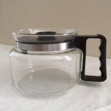 Vintage Mr. Coffee 10-8 Cup Replacement Glass Carafe Decanter Pot Brown