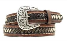 Ariat Western Mens Belt Leather Overlay Concho Brown Black A1014802