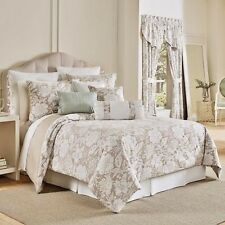 Croscill: Brand New Nellie 4 pc King or Queen Comforter Sets; Tan White Beige