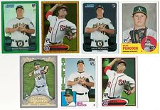 BRAD PEACOCK 2012 RC Rookie Card Logo Single Cards Topps/Bowman A's/Nats Astros