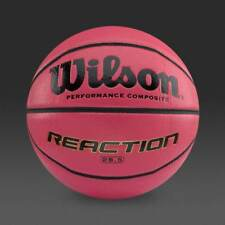 BRAND NEW OFFIZIELL PINK WILSON REACTION COMPOSITE LEATHER BASKETBALL-SIZE 5 6 7