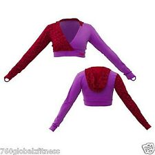 """Zumba Dance Fitness """"Get Down"""" Cropped Hoodie in Purple/Red  XL, NWT, Ships Fast"""