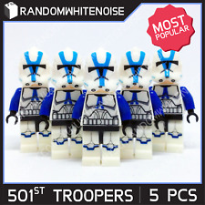 LEGO Star Wars 501st Clone Trooper Compatible Minifigs w/ DC-15A & DC-15s Rifles
