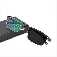 Transition Photochromic Progressive Reading Glasses Multi Focus Sunglasses UV400