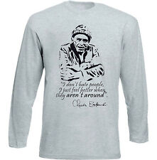 CHARLES BUKOWSKI DONT HATE - NEW COTTON GREY TSHIRT