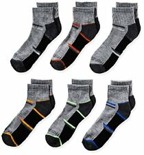 Fruit of the Loom Big Boys 6-Pair Half Cushion Ankle Socks Shoe- Pick SZ/Color.