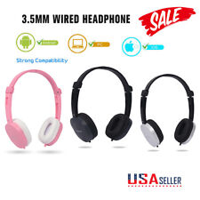USA Wired Headphone Over-ear Headset Hands-free with Mic for Phones Computers