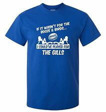 GILLINGHAM FANS THEMED BOOZE AND BIRDS T-SHIRT