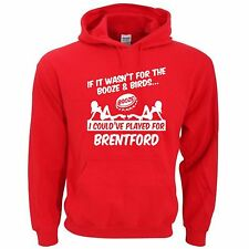 BRENTFORD FANS THEMED BOOZE AND BIRDS HOODIE ALL SIZES