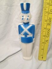 """Vtg 8"""" Inch Blue Toy Soldier Blow Mold Plastic nr"""
