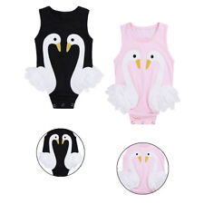 Newborn Baby Girl Swan Romper Infant Bodysuit Jumpsuit Clothes Sunsuit Outfits