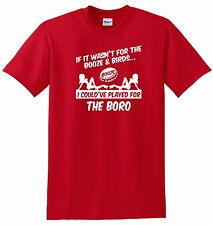 MIDDLESBROUGH FANS THEMED BOOZE AND BIRDS T-SHIRT