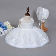 Spring Newborn Baby Girl Christening Princess Dress Toddler Lace Baptism Gown