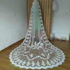 Wedding Veil Cathedral Bridal Lace Edge 1T 3M white/Ivory With Comb