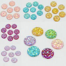 50pcs 12mm Resin Round Cabochon Rhinestone Flatback Embellishments Jewelry Craft