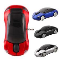 Car Shape Wireless Optical Mouse Color Changing Home Office USB ES88
