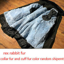 wool/rex rabbit Fur liner+ windbreaker two pieces ~ waterproof windproof jacket