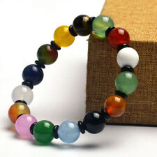 New Natural Colourful Agate Tigers Eye Aventurine Bead Stone Bracelet 8 to 12mm