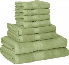8Pack Bath Towel Set For Bathroom Aqua Cotton Bath Towel Super Soft Cotton Towel