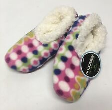 New Kids Snoozies COLORFUL DOTS & WAVES Slippers - Soft & Super Comfy