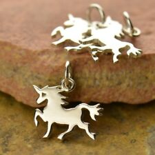 925 Sterling Silver Unicorn Charm Necklace Charms Fantasy Magic Fairytale 1432