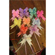 50 mm LARGE Ribbon Bows party decoration assorted colours pull flower ribbon