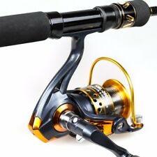 Wood Handle Carbon Fishing Rod Spinning Reel Pole Set with Fish Bag Case Combo