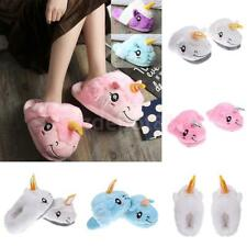 Soft Plush Unicorn Slippers Womens Home Warm Winter Slippers Indoor Shoes