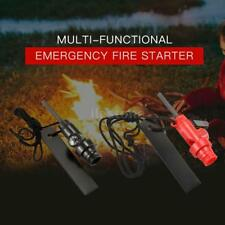 Outdoor Camp Emergency Survival Flint Fire Starter w/ Compass and Whistle R5S7