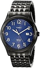 Timex Mens Woodcrest Drive Black Stainless Steel Expansion Band Watch