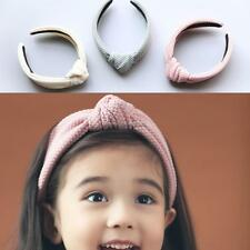 Fashion Bowknot Solid Width Hair Hoop Hair Accessories For Baby Girls FF