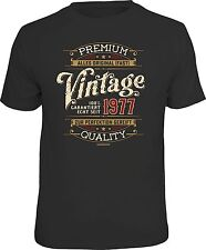 Funny Birthday T-Shirt - 100% PREMIUM VINTAGE SINCE 1977 Fun Shirt Gift