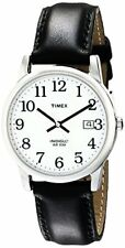 Timex Mens Easy Reader Black Leather Strap Watch- Pick SZ/Color.