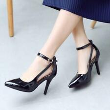 New Womens Ankle Strap Pumps Sandals Pointy Toe High Heels Dress Shoes Size 5678