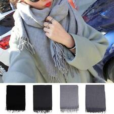 Fashion Womens Cashmere Scarf Winter Warm Solid Long Pashmina Shawl Wrap