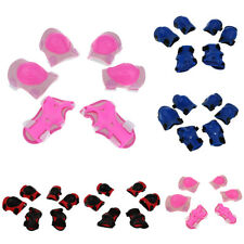 6 Pieces Kids Roller Skating Skateboard Cycling Elbow Knee Pad Wrist Guard