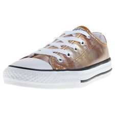 Converse Chuck Taylor All Star Ox Kids Trainers Gold New Shoes
