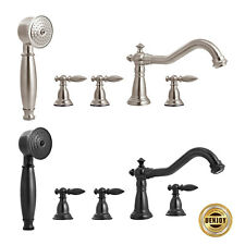 Shower Faucet Vintage Stylish Roman Tub w/ Handshower Brushed Nickel/Bronze
