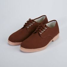 New Women Men Casual Health Canvas Flat Shoe brown pink snowflake lace vintage