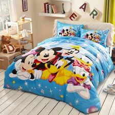 Disney Mickey Minnie Mouse Donald Duck Goofy Bedding Set King Queen Full Twin