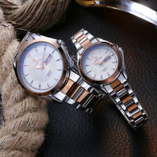Fashion Top Luxury Womens Mens Business Quartz Lovers Date Steel Band Wristwatch
