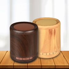 AB HIFI Stereo Sound Mini Speakers Wireless Bluetooth Woofer Wooden Loudspeaker