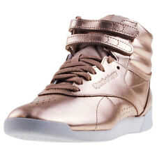 Reebok Freestyle Hi Metallic Womens Trainers Rose Gold New Shoes