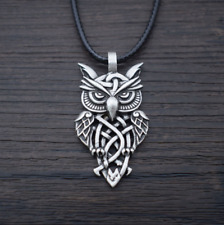 Owl Necklace Celtic Vintage Silver Gold Jewelry Necklace Pendant Chain Gift