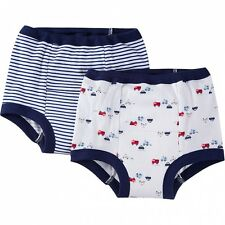 Gerber Boys Training Pants 2 Pack NEW Various Sizes Firetrucks