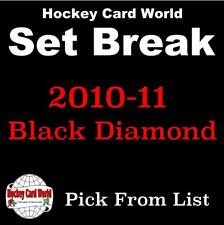 (HCW) 2010-11 Upper Deck Black Diamond NHL Hockey Cards Set Break- You Pick