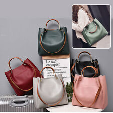 Women Shoulder Bag Tote Crossbody Messenger PU Leather Hobo Simple Large Fashion